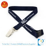 Cheap Polyester Printed Neck Lanyard with Metal Clip
