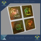 Golden Color Holographic Security Stickers Holographic Label