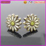 Vintage White Daisy Elegant Metal Female Earrings (21619)
