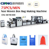 Non Woven Box Bag Making Machine with Online Handle Attach