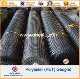 50kn/Mx50kn/M Warp Knitting Polyester Pet Geogrid Coated with PVC