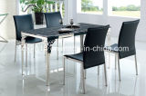 Simple 4 People Glass Dining Table Living Room Furniture / Home Furniture