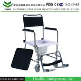 Aluminum Commode Chair, Shower Chair with Wheels, Adjustable Commode Chair