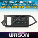 Witson Car DVD for KIA Picanto 2012 (W2-D8526K) Car DVD GPS 1080P DSP Capactive Screen WiFi 3G Front DVR Camera