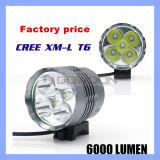 6000lm 5 Xml T6 LED Waterproof Aluminum Bike Front Headlight