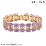 74467 -Fashion Luxury Big CZ Rhinestone Imitation Jewelry Bracelet for Wedding Plated with 18k Gold