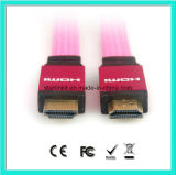 HDMI Cable with Flat PVC Jacket 1.4V 1080P 3D 4k