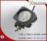 12W 900lm 6000k LED Work Lamp for 4X4 off Road with Spot Flood Beam