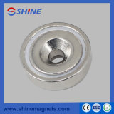 Neodymium Nickle Plated Countersunk Pot Magnet A42
