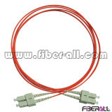 Multimode Optical Fiber Patch Cord Sc to Sc Red Color