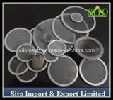 304 Stainless Steel Woven Wire Mesh Filter Disc