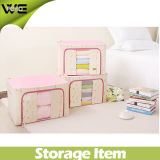 Folding Linen Fabric Collapsible Pretty Toy Storage Boxes
