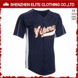 Fashion Trendy Navy Blue Baseball Jersey for Mens (ELTBJI-3)