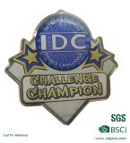 Star Shape Metal Print Custom Pin Badge with Logo