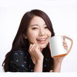 China Cheap Daily Use 320ml Ceramic Mug with Handle OLED