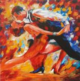Handmade Abstract Style Beautiful Dancer Oil Painting for Living Room