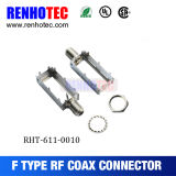 Female Gender F Connector RoHS Approval RF Connector