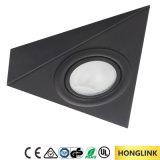 Black Triangle Surface Mounted Cabinet G4 12V 20W Halogen Cabinet Light