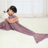 Customized Colors and Style Knit Mermaid Tail Blankets Sleeping Bag