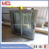 Double Glazed Champagne Color Aluminum Sliding Window