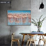 A Herd of Red-Crowned Cranes Canvas Print