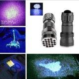 21 LED UV Flashlight Ultra Violet 395nm Blacklight Torch Lamp