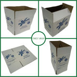 Wholesale Moving Boxes White Corrugated Kraft Paperboard with Blue Printing