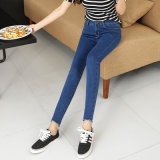 Cotton Pencil Jeans for Young Lady