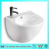 Round Shaped Wall-Hung Half One-Piece Basin
