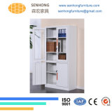 2 Glass Doors Office Storage Metal Filing Cabinet