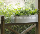 Stainless Steel Flower Pot Rectangular Window Planter