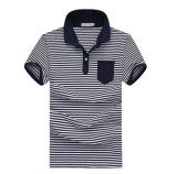Short Sleeve Wholesale Striped Polo Shirts