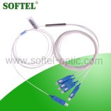 1X4 Sc/Upc Optical Splitter with Blue Connector