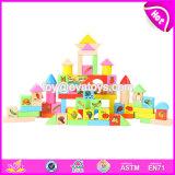 Wholesale Cheap 80 Pieces Baby Preschool Fruit Pattern Wooden Kids Blocks W13b024