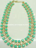 Big Stone & Chain Fashion Necklace/Fashion Jewelry (XJW2126)