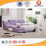 Chinese Wood Double Bed Design Furniture Set (UL-FT813B)