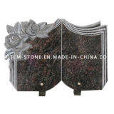 Custom Book Shape Flower Granite Stone Carved Monument / Gravestone