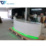 Commercial LED Clinic Round Modern Reception Desk