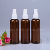 Brown Round 100ml Pet Bottle with White Mist Spray Pet-4