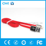 Slim Flat Charger&Transfer Data Cable Red