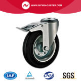 5 Inch Bolt Hole Black Rubber Industrial Caster