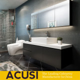 Hot Selling Modern Lacquer Black Wooden Bathroom Cabinet (ACS1-L64)