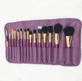 15PCS Professional Makeup Brush Set with Purple Handle
