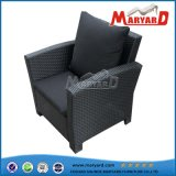 Leisure Modern Lifestyle Wicker Furniture Patio Rattan Comfortable Garden Single Chair with Cushions