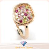 Special Design Fashion Jewelry Color CZ Silver Ring for Women R10164