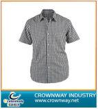 Classic Plaid Short-Sleeve Summer Shirt for Men