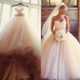 Blush Pink Bridal Ball Gown Strapless Wedding Dresses Ld32