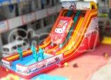 Wholesale Double Slips Cartoon Theme Car Race Inflatable Slide (CHSL102L)