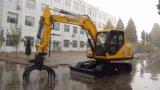 Small Yellow Crawler Excavators with Grab Catching Sugarcane Machine
