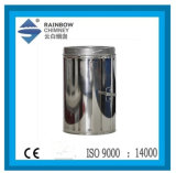 Chimney Pipe - Double Wall Straight Pipe with Valve